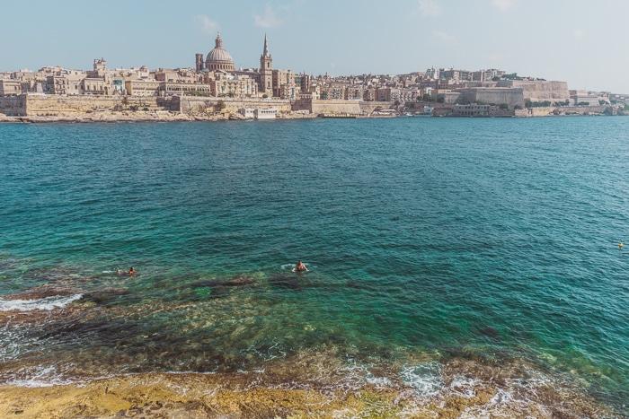Swimming in Sliema, Malta
