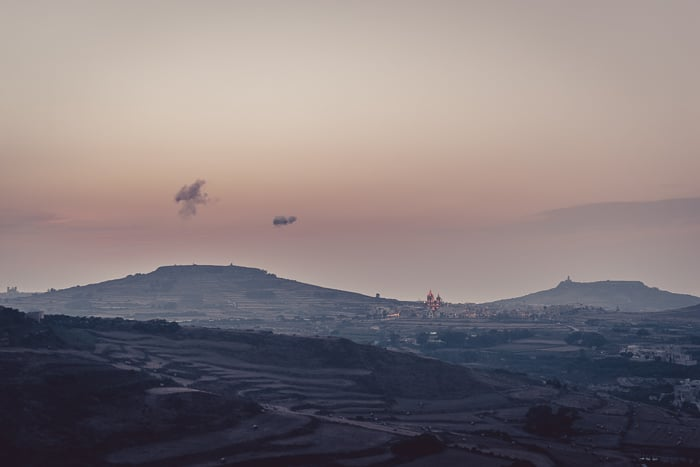 Sunset Views from Victoria Citadel, Gozo, Malta