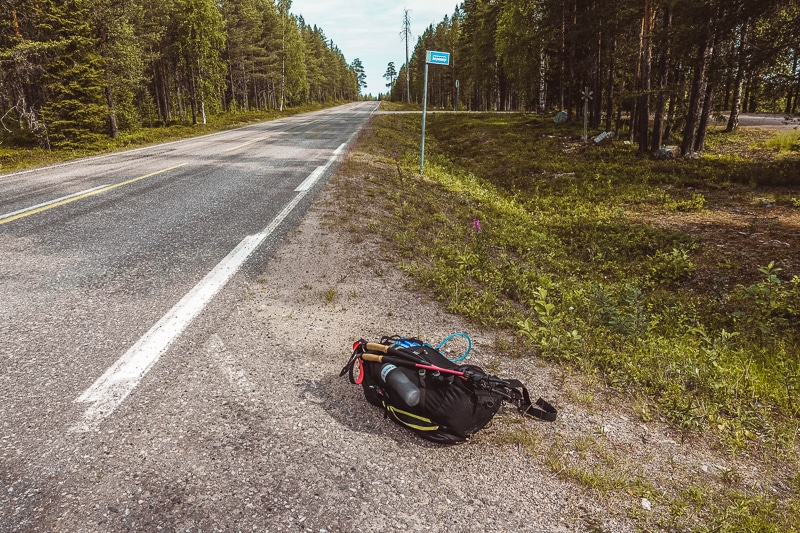 Hitchhiking in Kuusamo, Finland