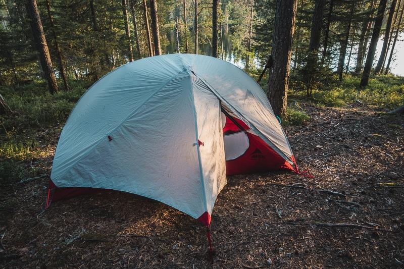 Camping, Karhunkierros Trail, Finland