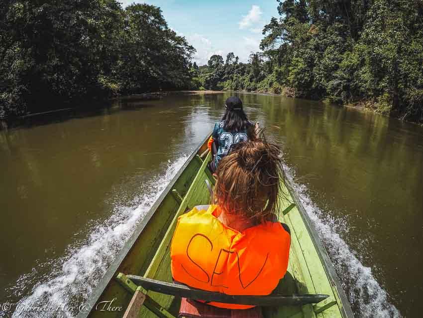 Boat ride in Ulu Temburong National Park, Brunei